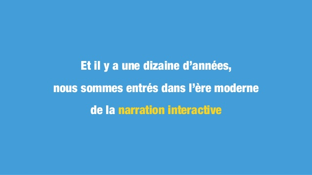 Interactivité vs narration le debat